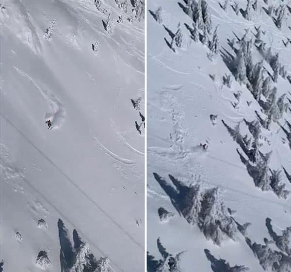滑雪者不听劝硬闯封闭滑雪场 触发雪崩幸而获救